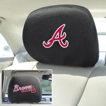 Atlanta Braves Embroidered Car Headrest Cover, Set of 2