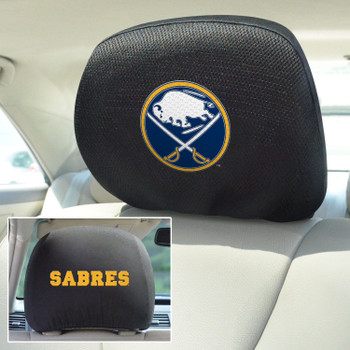 Buffalo Sabres Embroidered Car Headrest Cover, Set of 2
