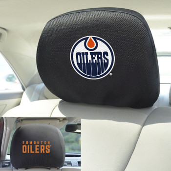 Edmonton Oilers Embroidered Car Headrest Cover, Set of 2