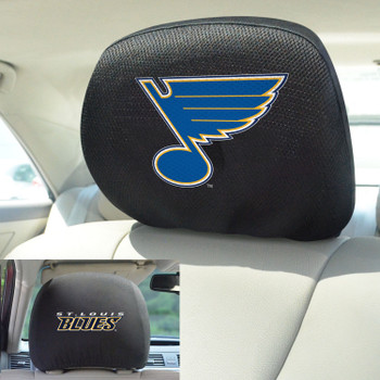 St. Louis Blues Embroidered Car Headrest Cover, Set of 2