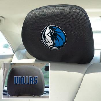 Dallas Mavericks Embroidered Car Headrest Cover, Set of 2