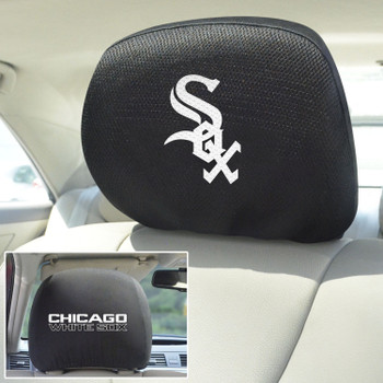Chicago White Sox Embroidered Car Headrest Cover, Set of 2