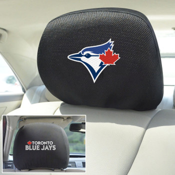 Toronto Blue Jays Embroidered Car Headrest Cover, Set of 2