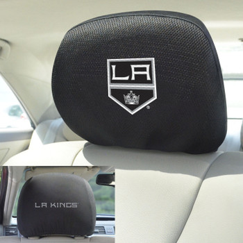 Los Angeles Kings Embroidered Car Headrest Cover, Set of 2