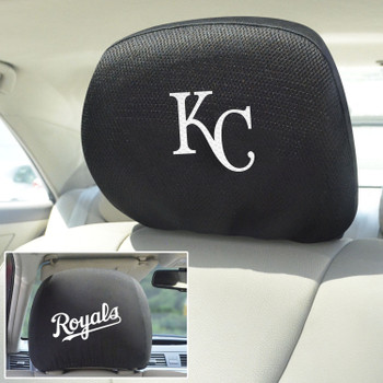 Kansas City Royals Embroidered Car Headrest Cover, Set of 2