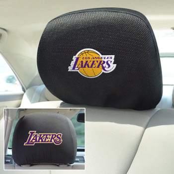 Los Angeles Lakers Embroidered Car Headrest Cover, Set of 2