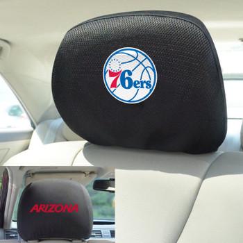 Philadelphia 76ers Embroidered Car Headrest Cover, Set of 2