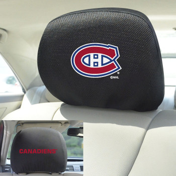 Montreal Canadiens Embroidered Car Headrest Cover, Set of 2