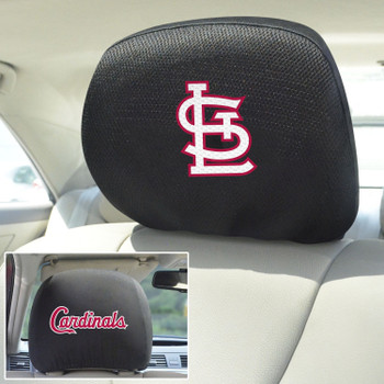 St. Louis Cardinals Embroidered Car Headrest Cover, Set of 2