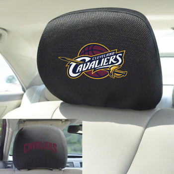 Cleveland Cavaliers Embroidered Car Headrest Cover, Set of 2