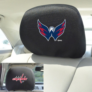 Washington Capitals Embroidered Car Headrest Cover, Set of 2