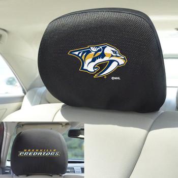 Nashville Predators Embroidered Car Headrest Cover, Set of 2