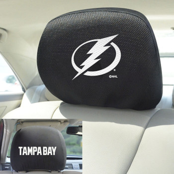 Tampa Bay Lightning Embroidered Car Headrest Cover, Set of 2