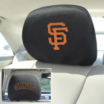 San Francisco Giants Embroidered Car Headrest Cover, Set of 2