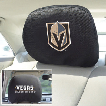Vegas Golden Knights Embroidered Car Headrest Cover, Set of 2