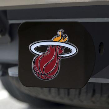 Miami Heat Hitch Cover - Team Color on Black