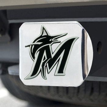 Miami Marlins Hitch Cover - Chrome on Chrome