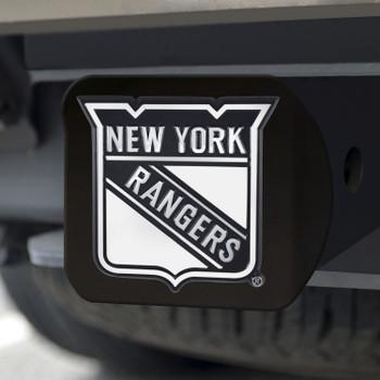 New York Rangers Hitch Cover - Chrome on Black