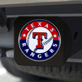 Texas Rangers Hitch Cover - Team Color on Black