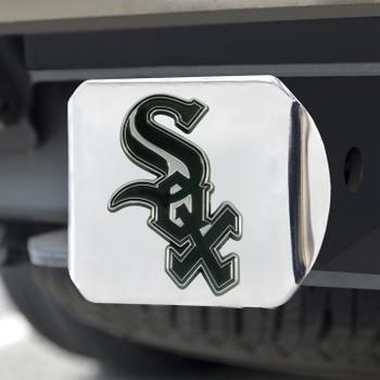 Chicago White Sox Hitch Cover - Chrome on Chrome