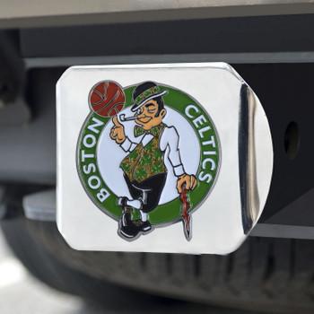 Boston Celtics Hitch Cover - Team Color on Chrome