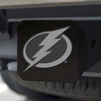 Tampa Bay Lightning Hitch Cover - Chrome on Black