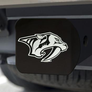 Nashville Predators Hitch Cover - Chrome on Black