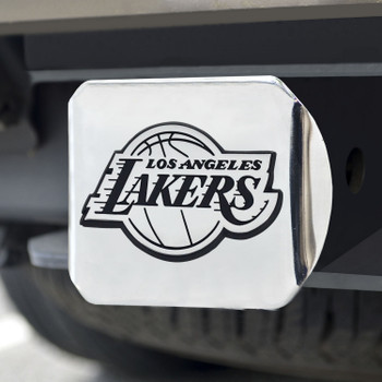 Los Angeles Lakers Hitch Cover - Chrome on Chrome