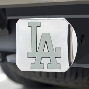 Los Angeles Dodgers Hitch Cover - Chrome on Chrome