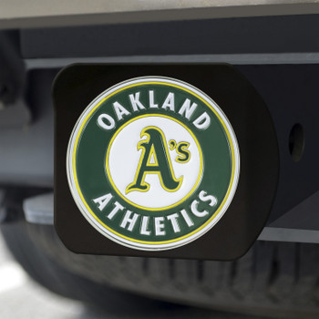 Oakland Athletics Hitch Cover - Team Color on Black