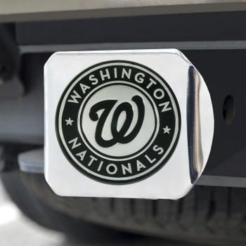 Washington Nationals Hitch Cover - Chrome on Chrome