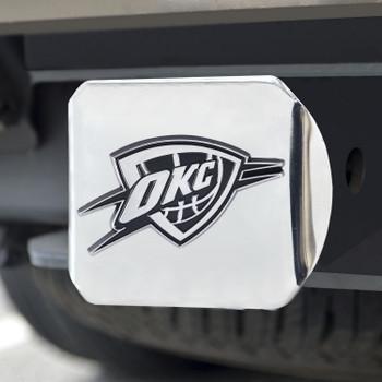Oklahoma City Thunder Hitch Cover - Chrome on Chrome