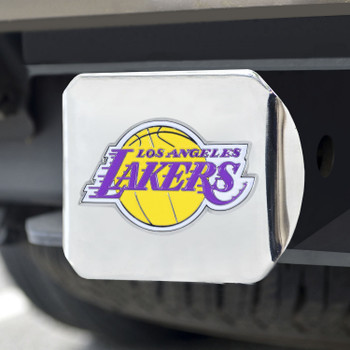 Los Angeles Lakers Hitch Cover - Team Color on Chrome