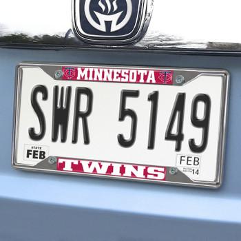 Minnesota Twins Chrome License Plate Frame