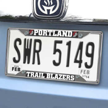 Portland Trail Blazers Chrome License Plate Frame