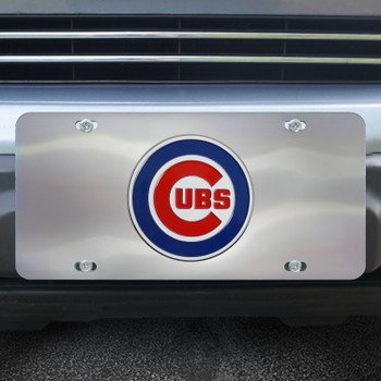 Chicago Cubs Diecast Stainless Steel License Plate
