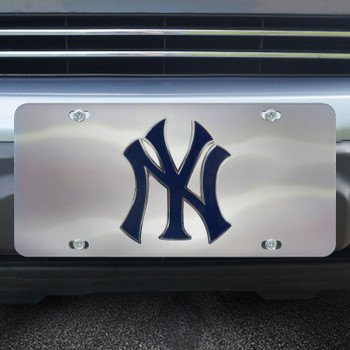 New York Yankees Diecast Stainless Steel License Plate