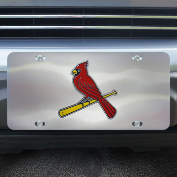 St. Louis Cardinals Diecast Stainless Steel License Plate