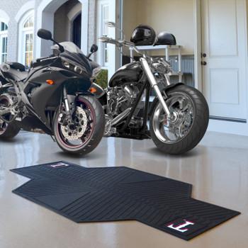 "82.5"" x 42"" Texas Rangers Motorcycle Mat"