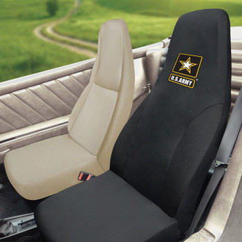 U.S. Army Black Car Seat Cover