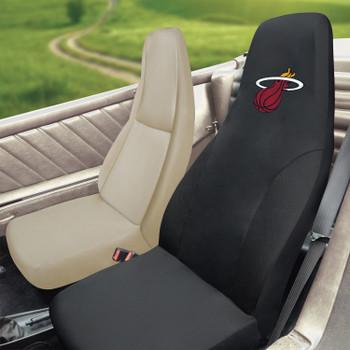 Miami Heat Black Car Seat Cover