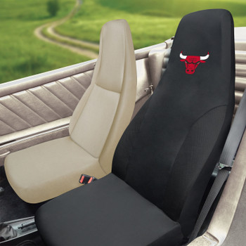 Chicago Bulls Black Car Seat Cover