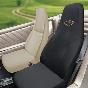 Minnesota Wild Black Car Seat Cover