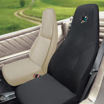 San Jose Sharks Black Car Seat Cover