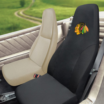 Chicago Blackhawks Black Car Seat Cover