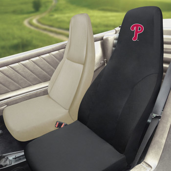 Philadelphia Phillies Black Car Seat Cover