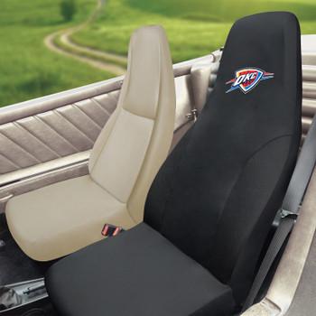 Oklahoma City Thunder Black Car Seat Cover