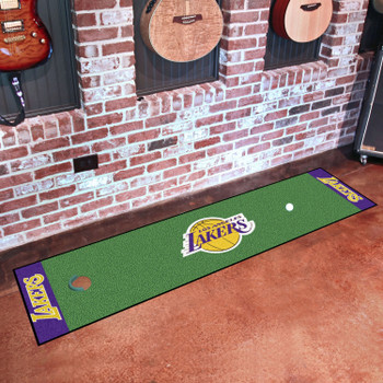 """18"""" x 72"""" Los Angeles Lakers Putting Green Runner Mat"""