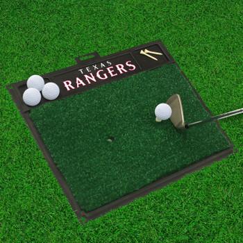 """20"""" x 17"""" Texas Rangers Blue Golf Hitting Mat"""