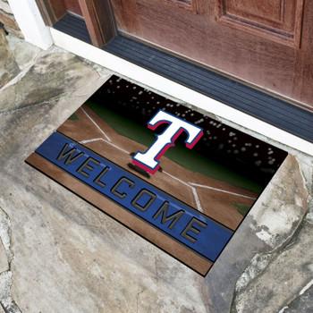 """18"""" x 30"""" Texas Rangers Blue Crumb Rubber Door Mat"""